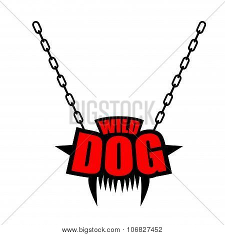 Necklace Wild Dog Emblem For Gangs Of Hooligans. Decoration On Chain