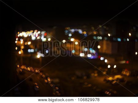 night city lights outside the window