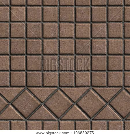 Brown Pave Slabs in the Form of Small Squares and Triangles.