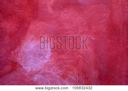 Red Texture Of Shabby Paint Plaster Stucco Background