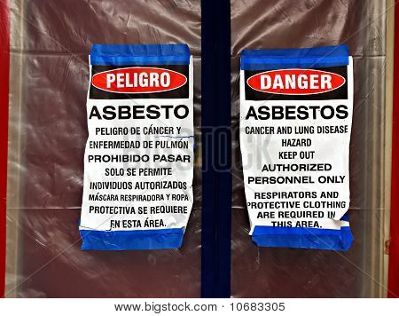 Asbestos Abatement Signs