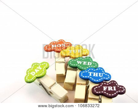 Created Timber Paper Clips With Business Day For Reminder
