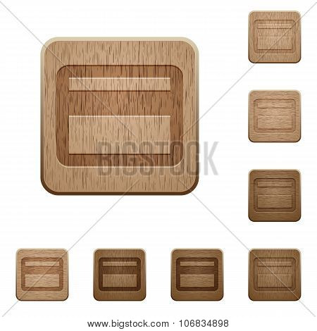 Credit Card Wooden Buttons