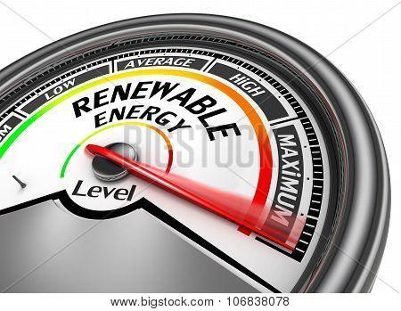 Renewable Energy To Maximum Level Modern Conceptual Meter