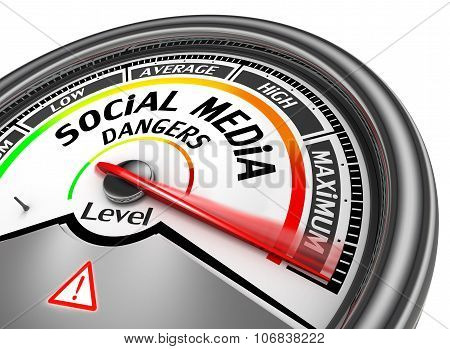 Social Media Dangers Level To Maximum Modern Conceptual Meter