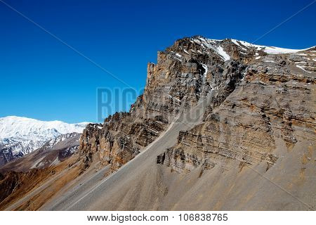 Mountain Peak N Thorong La Pass