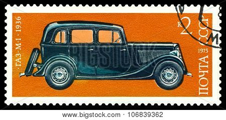 Stamp. Car  Gaz - M 1, 1936.