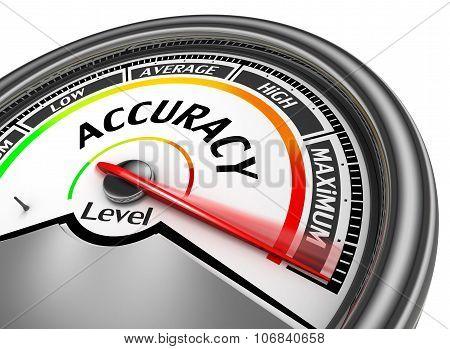 Accuracy Level Conceptual Meter Indicate Maximum