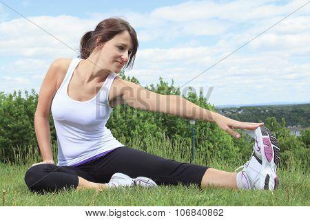 A woman sport