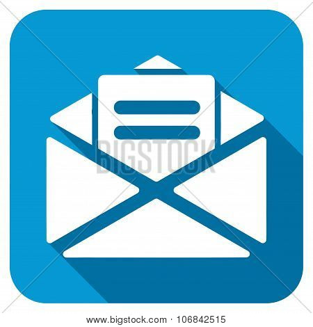 Open Mail Longshadow Icon