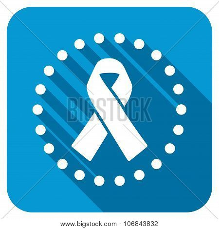 Solidarity Ribbon In Dotted Circle Longshadow Icon