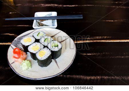 Sushi Egg And Cucumber