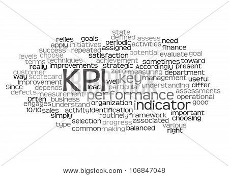 Word Cloud Of Key Performance Indicator (kpi) And Its Related Words