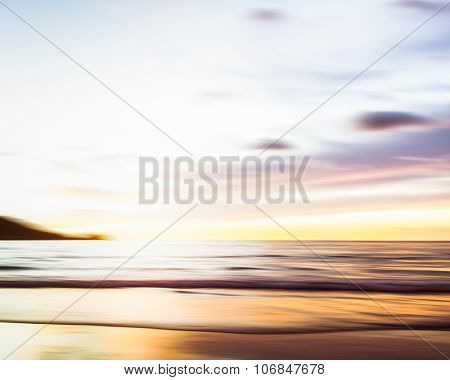 Abstract Seascape With Blurred Panning Motion Background