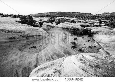 Black And White Devils Garden Escalante At Sunrise