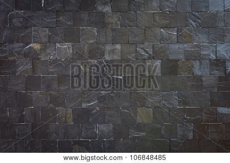 Pattern Of Black Slate Wall Texture