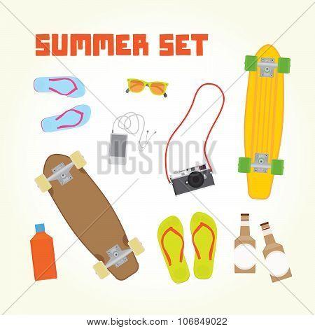 Summer objects set