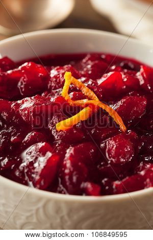 Homemade Organic Red Cranberry Sauce