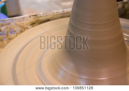 Asian clay potter