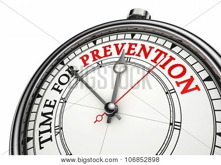 Time For Prevention Concept Clock