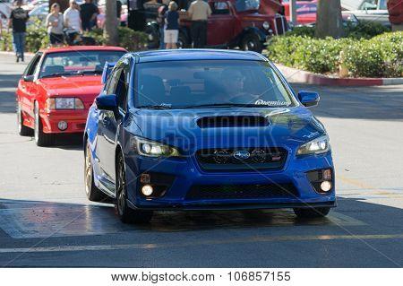 Subaru Sti On Display