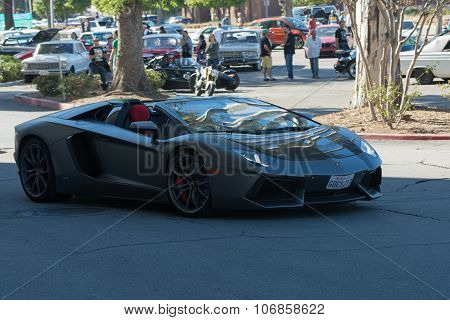 Lamborghini Aventador On Display On Display