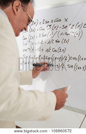 Rewriting math formulas