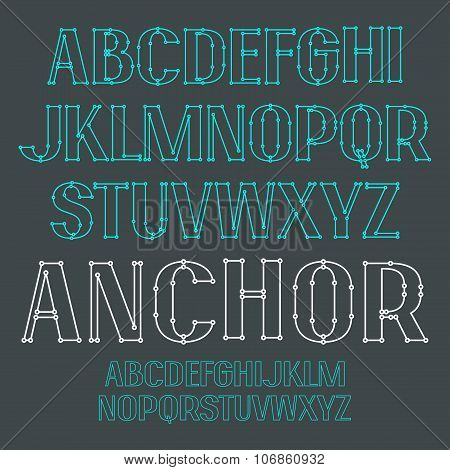 Uppercase Outline Decorative Font