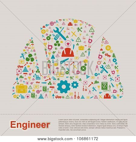 Civil And Mechanical Engineering Construction Site Infographic Banner Template Layout Icon Design Of