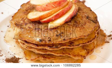 Apple And Oats Pancakes