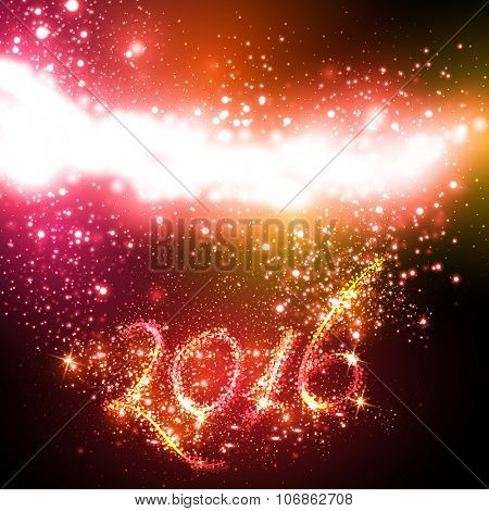 Happy New Year 2016 celebration background cover