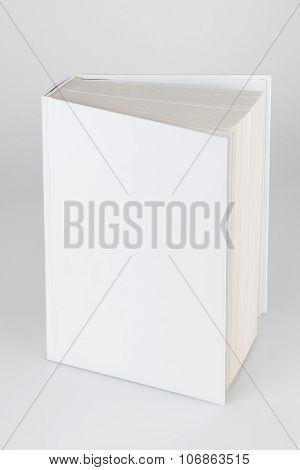 Front View Of Blank Book Cover White Isolated