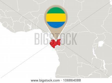 Gabon On World Map