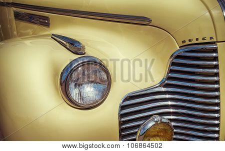 Yellow 1940 Buick Convertible Classic Car
