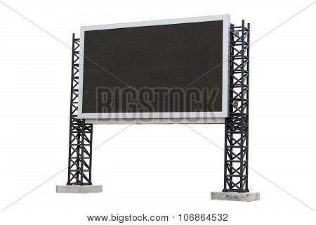 Large Scoreboard Stadium Isolated On White Background. Use Clipping Path