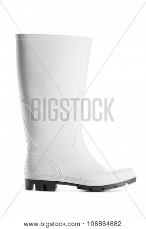 New Rubber Boot Isolated On White Background