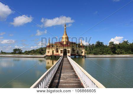 Pagoda on a Lake