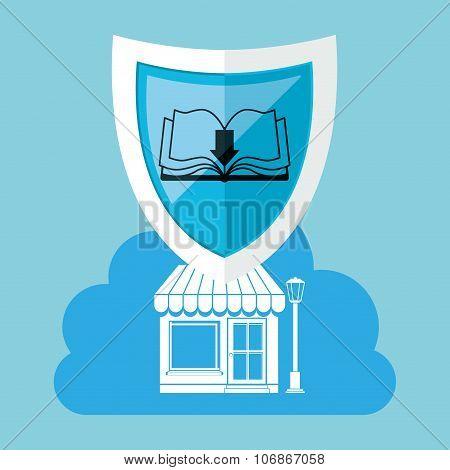 online bookstore , vector illustration