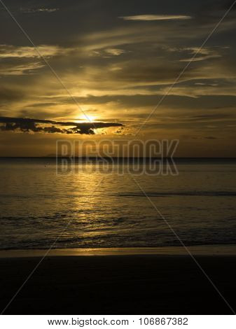amazing sunset, vertical format, Haad Yao beach, Trang, Thailand