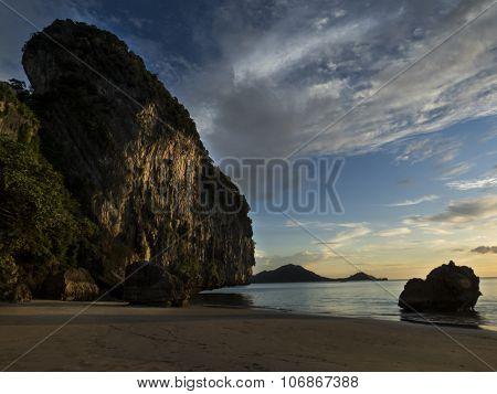 Amazing beach, vertical format, Haad Yao beach, Trang, Thailand, Asia