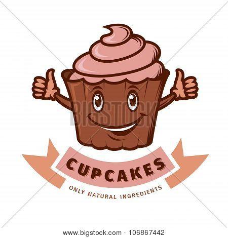 Vector Emblem Cupcake