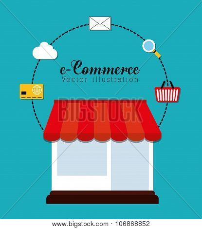 Shopping and ecommerce graphic design