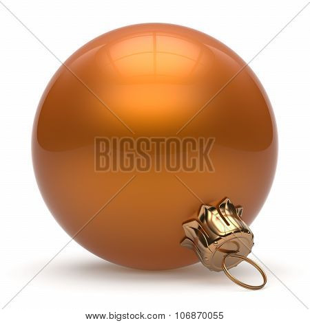 Christmas Ball New Year's Eve Bauble Decoration Orange