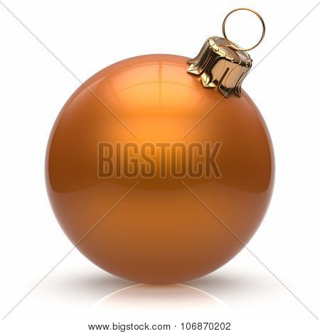 New Year's Eve Bauble Christmas Ball Decoration Orange