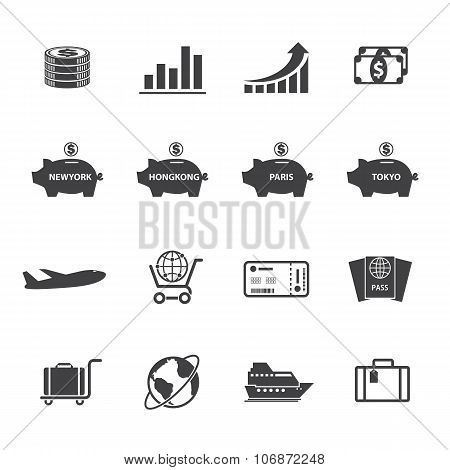 Finance and money icon set.