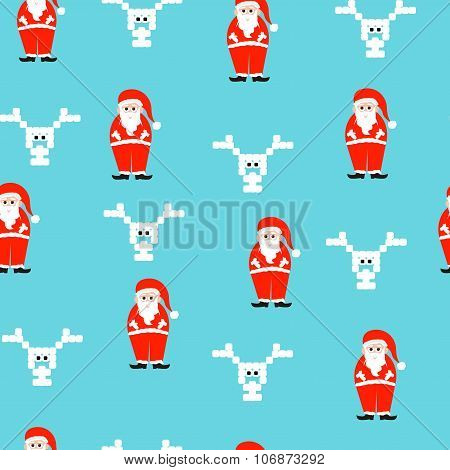 Vector illustration of a christmas pattern