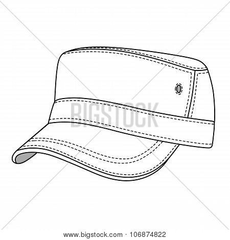 Cap Band Outlined Template
