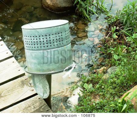 Old Bait Bucket Upside Down