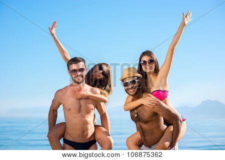 Guys and girls enjoyed holiday.
