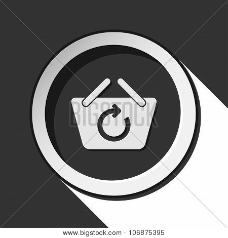 Icon - Shopping Basket Refresh With Shadow